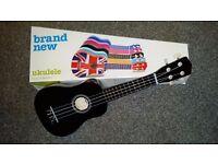 BRAND NEW AND BOXED BLACK UKELE