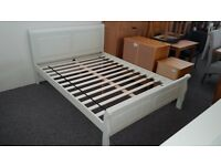 Amelia Stone White Sleigh King Size Bed Frame By Julian Bowen BED ONLY Can Deliver