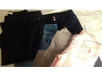 5 pairs ladies trousers excellent condition size 14