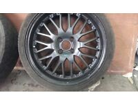 "17"" alloy wheels 4 stud taken from my Renault clio very good tyres ."