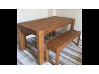 NEXT HARTFORD DINING TABLE & BENCHES