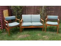 Vintage parker knoll furniture sofa settee suite retro