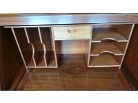 STUNNING TABLE TOP SOLID ROSEWOOD WRITING DESK / BUREAU FITTED