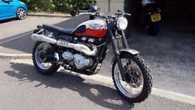 2005 Triumph Scrambler. Lots of extras. 27500 miles recently MOTd.