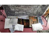 9 Quality Assortment of Cloth/Silk Backdrops