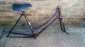 Ladies Raleigh Cameo bicycle frame, 1980s