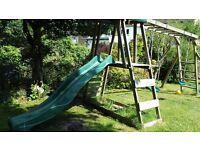 Dunster house Mini Fort Discovery slide, swing, climbing Frame, monkey bars etc