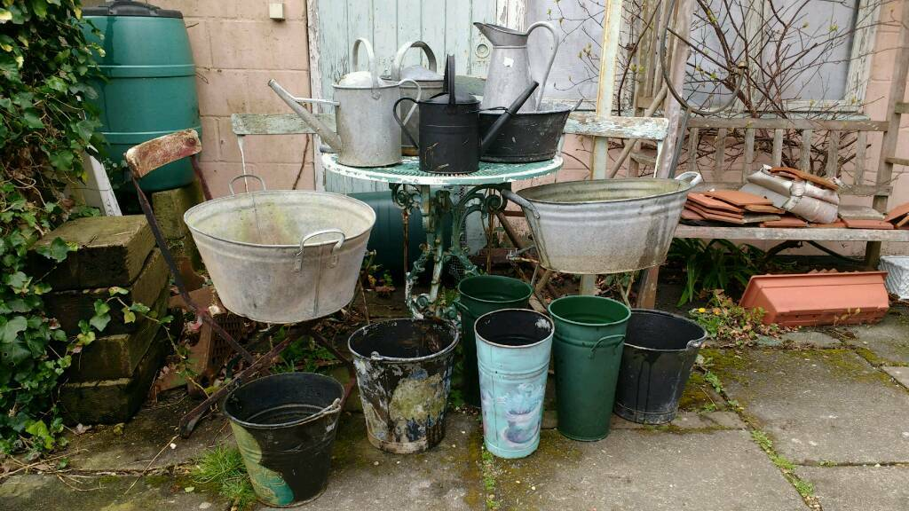 Vintage Watering Cans Planters Baths And Buckets