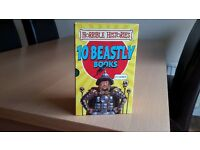 Box of 10 Horrible Histories books