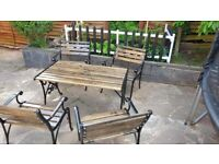 CAST IRON GARDEN FURNITURE TABLE CHAIR BENCH ENDS #1