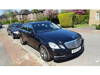 MERCEDES BENZ E-Class Black , UBER regestered and ready to go. TAXI / PCO Drivers,