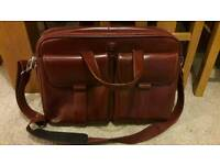 Never used expensive brown leather laptop bag
