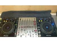 Pioneer cdjs 1000 mk3 x2 with mixer offers