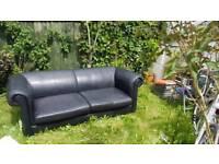 Leather black sofa