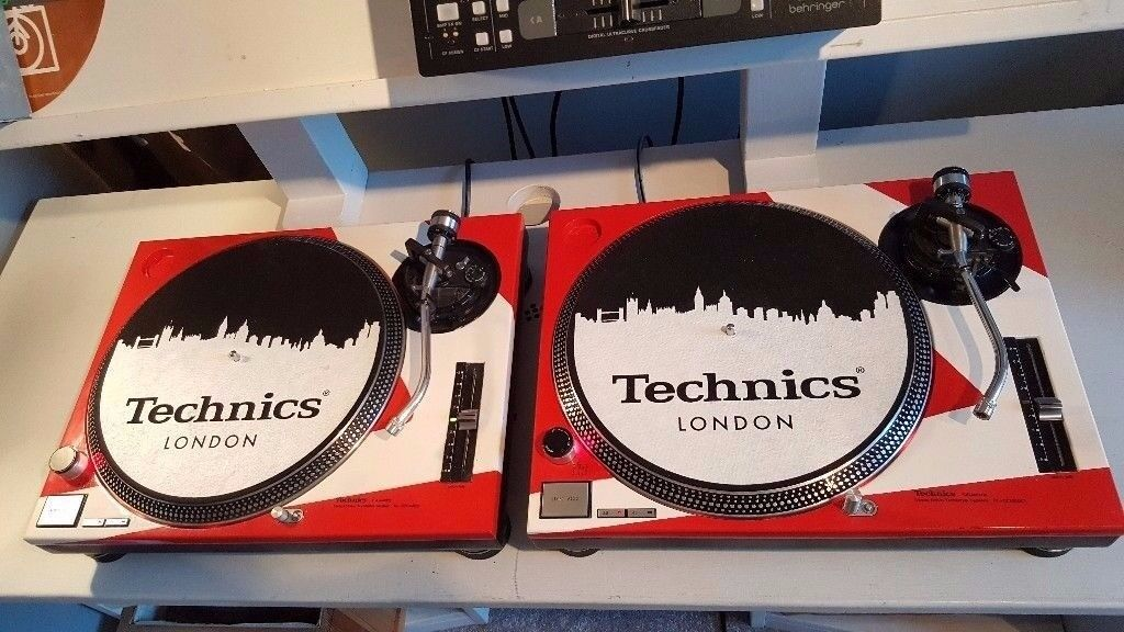 Technics SL 1210 MK2 Turntables Vinyl Decks x 2. Custom Paint. Stanton Cartridge Technics Headshells