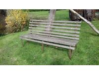 6 ft Wrought Iron & Wooden Bench