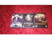 3 twilight dvds