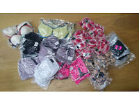 Heavily discounted bulk designer lingerie - 152 x bras + 106 x knickers / thongs