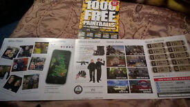 20x Paintball tickets & 2000 free paintballs