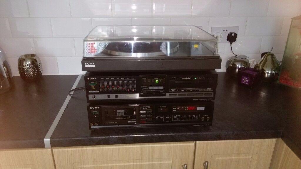 Sony turntable/Amplifier/Cassette deck