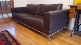 Fantastic Brown Leather Sofa for sale - great condition, smoke free home