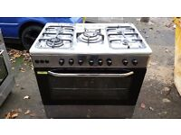 PARNALL 90cm FULL GAS RANGE COOKER-STAINLESS STEEL
