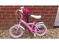 Girls 12 inch Bike - Cupcake - Stabilsers
