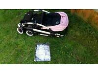 Bugaboo bee plus with soft pink hood and raincover