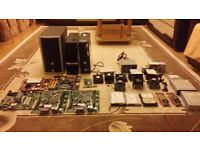 Various Desktop PC Parts; Outer Case Motherboard Harddrive CPU Processor Heat Sink Power Supply DELL