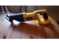 New, Dewalt DC380 XRP Cordless 18 v Reciprocating Saw in mint condition, see photos & details