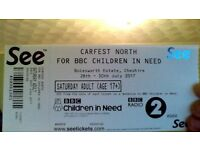 CARFEST NORTH - Saturday Tickets Adult x2 + 1 child at less than FACE VALUE