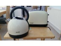 Breville Kettle and Russell Hobbs 2 slice Toaster