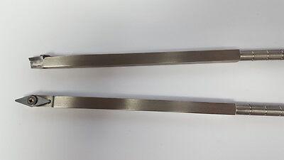 """Detailer Carbide Woodturning Tool, Lathe Diamond 9"""" long Stainless Steel"""
