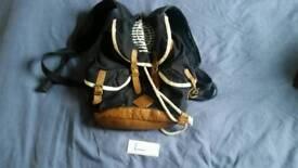 Navy brown bag rucksack backpack fashion