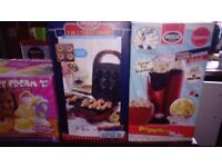 kids cooking machines makers icecream, popcorn, mr frosty, dougnut pop cake cupcake waffles