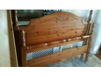 solid pine double bedframe