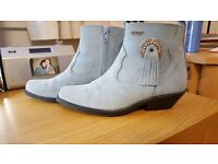 Blue Suede boots bought for line dancing never worn much and never outside