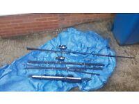 For Sale 3 Carp Rods & 6ft Landing Net