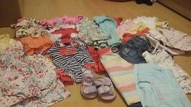Girls bundle 9-12 months summer holiday clothes
