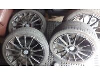 Fox 18inch alloys 5x100 with good tyres on them