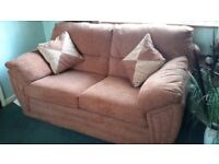 dfs twin sofa and chair 1 year old brick colour