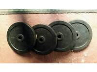 5kg weight plates x 4