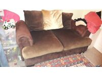 Brown 2 seater sofa, good quality and condition.