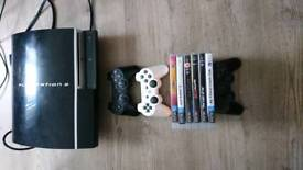 PlayStation 3 PS3 three controllers and games for sale