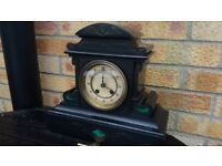 Beautiful Ornate 8 day slate clock gong striking Antique clock. Circa 1890-1900. Good working order.