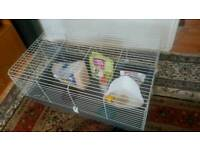 very big hamster cage with accessories