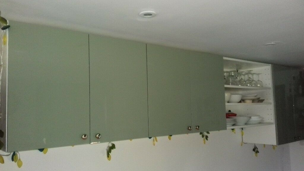 Kitchen Wall Cupboards Ikea Light Green