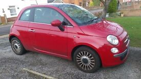 2009 Red Fiat 500 1.4L Lounge Edition, Leather, Bluetooth, FSH, Rare Automatic