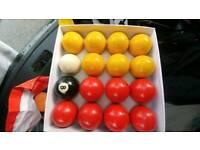 Pub size pool balls