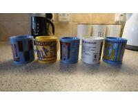5x Aston Villa Collectible Mugs